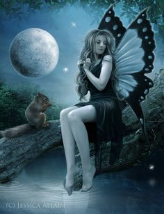 Moonlight Fairy by *EnchantedWhispers on deviantART