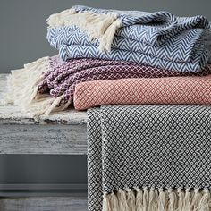 No home is complete without one of these lovely basket weave cotton throws. They would be great for a cosy night in or they are light enough to pop in a bag and take to the park or beach!