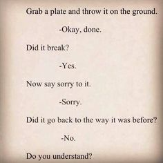 One of the greatest metaphors I've ever heard . Wow.