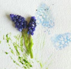 Smashed flower art