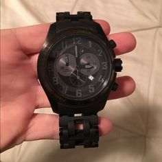 Invicta men's matte black watch model 5601 Swiss Invicta matte black watch. Model 5601 from the sea spider collection. Swiss made. Stainless steel , chronograph movement. Water resistant up to 200 mt. Retails for $300 Invicta Jewelry