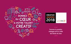 Creative Awards by Saxoprint : créez la prochaine campagne des Restos du Coeur ! #DigitalMarketing Compilations, Calm, Hui, Digital, Watch Over Me, Beginning Sounds, Rural Area