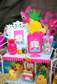 FLAMINGO Party- FLAMINGOS- Flamingo Birthday- Luau Party- PINK FLAMINGO DECORATIONS