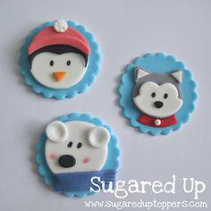 Polar Bear Cupcakes // Pengin Cupcakes // Husky Cupcakes // Winter Party