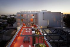 Koning Eizenberg Architects redeveloped Los Angeles' 28th Street YMCA, a heritage building, and added a wing of affordable apartments.