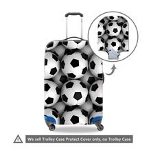 US $14.29 Soccerly Ball 3D Printed Suitcase Cover for Travel Cool Luggage Cover Luggae Protectives for Men Waterproof Suitcase Protectors. Aliexpress product