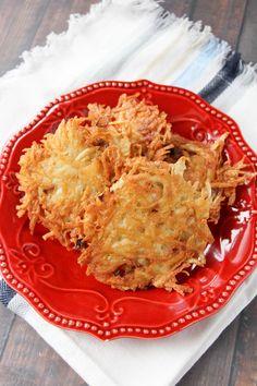 Make crispy Potatoe Latkes for Hanukkah, or any time!