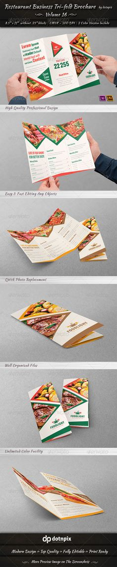 Trifold Restaurant Brochure Get It Customized As Per Your Needs