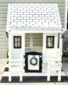 5807 B 🖤 Waiting for the warmer weather to stay to build a platform & do landscape around it for its permanent spot in the yard! Costco Playhouse, Play Houses, Waiting, Platform, Yard, Weather, Landscape, Building, Outdoor Decor