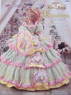 """Charleen of Dallas"" Crochet Pattern Doll Dress 1998"