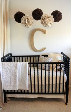 2-piece Oatmeal & Cream Luxe Cotton Bumperless Baby Bedding Set, Custom Made to Order
