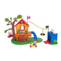"""Peppa Pig toys, videos and games from Toys""""R""""Us will keep kids captivated for hours. Peppa Pig toys are richly detailed to capture the characters children see on TV. Lego Duplo, Peppa Pig Treehouse, Peppa Pig Familie, Grandpa Pig, Everest, Pig Family, George Pig, Toys R Us Canada, All Toys"""