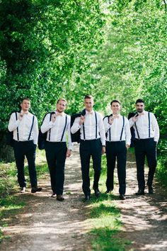 Bow Tie Braces Groomsmen Whimsical Peach Afternoon Tea Party Wedding http://clairemacintyre.com/