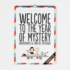 Almanaque reversible 2016 - Welcome to the year of mystery