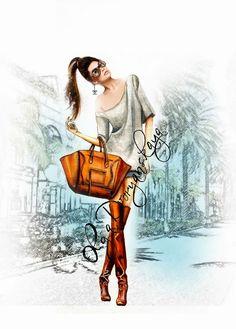 OlgaDvoryanskaya olga@pr-butik.com| Be Inspirational ❥|Mz. Manerz: Being well dressed is a beautiful form of confidence, happiness & politeness Croquis Fashion, Arte Fashion, Fashion Illustration Sketches, Fashion Sketches, Illustration Art, Creepy Drawings, Fashion Design Drawings, Fashion Painting, Colorful Fashion