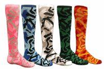 Funky Camouflage Knee-High Tube Socks available in 4 Camo Colors - Knee High Socks Wacky Socks, Crazy Socks, Softball Socks, Softball Mom, Pink Camouflage, Camo Colors, Running Socks, Tube Socks, Athletic Socks