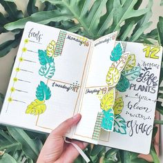 Bujo, Watercolor Art, Bullet Journal, Layout, Stay Safe, Plants, Life, Watercolor Painting, Page Layout