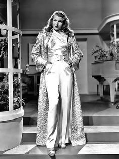 """Rita Hayworth by Robert Coburn, publicity portrait for """"Gilda"""", 1946. Miss Hayworth's costumes in the film were designed by Jean Louis."""