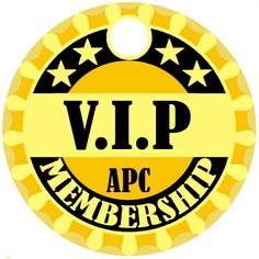 This V.I.P design was created as an award for APC members who have been with us for 4 consecutive years