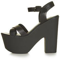 Topshop Womens LAUNCH Platform Sandals - Black on shopstyle.co.uk