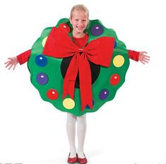 Christmas Wreath Costumes can be worn by Santa's little helpers or to a holiday cost. Baby Christmas Ornaments, Christmas Pageant, Christmas Program, Christmas Concert, Christmas Wreaths, Christmas 2015, Christmas Baking, Mario Halloween Costumes, Cute Costumes