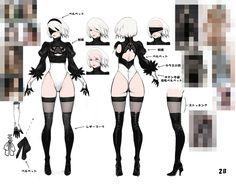 『NieR:Automata』キャラクターモデルメイキング   NieR:Automata 開発ブログ
