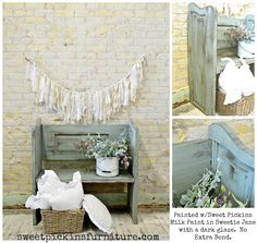 Bench made from door – tutorial! | Sweet Pickins Furniture