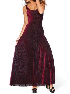 Burned Velvet Magenta Mandala Maxi Dress - LIMITED (AU $120AUD) by Black Milk Clothing