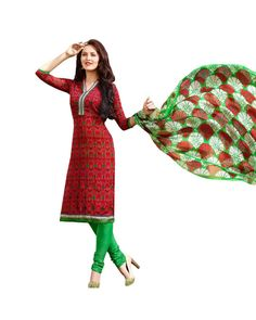 To Buy  Red Printed Salwar Suit please click Below:- http://www.ethnicstation.com/red-printed-salwar-suit-my1005  #PrintedSalwarSuit #DiscountCoupons
