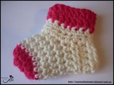 Crochet socks for preemies and full term babies