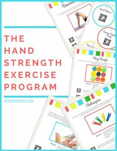 The Hand Strengthening Exercise Program, created by Claire Heffron OTR/L and Lauren Drobnjak PT, includes fun and creative hand exercises and activities for kids to help them build strength in the hands and fingers! Cutting Activities, Motor Skills Activities, Gross Motor Skills, Fun Activities For Kids, Sensory Activities, Dementia Activities, Counseling Activities, Home Exercise Program, Workout Programs