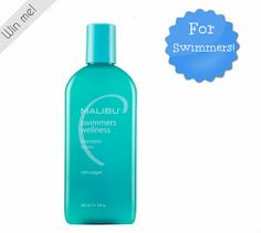 Malibu Swimmer's Shampoo - gentle, daily shampoo formulated with antioxidant vitamins and botanicals specifically for swimmers of all ages. Swimmers Water Action Shampoo helps prevent build-up of pool and spa chemicals (chlorine, bromine) and hard water minerals (copper, calcium, and magnesium) while gently cleansing hair and scalp. It also helps prevent green hair caused by copper and leaves hair soft, manageable, and full of shine. Vegan. Paraben-free. Pthalate-free. #SalonProductsToTry