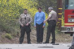 Bruce Jenner takes sobriety test roadside after he crashed his car in Malibu | Daily Mail Online