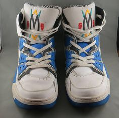 quality design c42bc d9ea1 Adidas Originals Dikembe Mutombo 55 - 1993 Blue White HI Top Shoes - Size 16