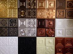 Decorative Ceiling Tiles, Inc. Store - Miniature Samples - Faux Tin Ceiling Tiles, $24.99 (http://www.decorativeceilingtiles.net/miniature-samples-faux-tin-ceiling-tiles/)