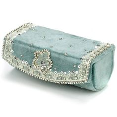 Vintage inspired lipstick case Blue Lipstick, Lipstick Case, Lipstick Holder, Makeup Lipstick, Lipsticks, Jeweled Shoes, Buy Bags, Purse Styles, Vintage Purses