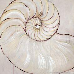 acrylic+paintings+of+nautilus+shell   nautilus-painting-fsc007