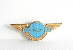 Vintage Pan Am Airlines Clipper Pilot Wings. My husband worked for PanAm in management..miss PAA