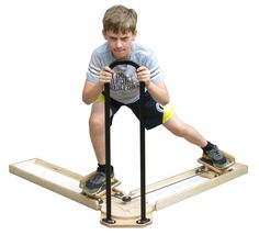 Start out young and the proper form will become natural! The Skating Slide Board is designed for 5-12 yr olds. #Hockey #skating #exercise