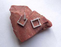 Men's hoop earrings male square hoop earrings geometric