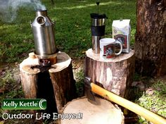 I can almost smell the fresh Coffee from here :-) - Boils Water Super Fast For Your Tea & Coffee Breaks when Working Outdoors :-) --