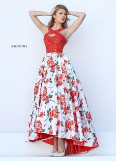 dc333937bf Sherri Hill 50481 Orange Print Floral Princess Party Dres This is totally  goals