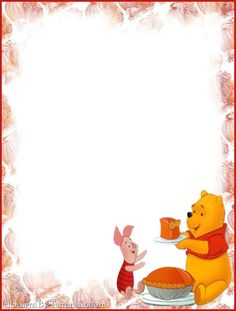 . Cool Writing, Writing Paper, Disney Scrapbook, Scrapbook Paper, Teddy Beer, Free Printable Stationery, Framed Wallpaper, Winnie The Pooh Friends, Note Paper