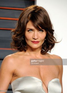 Model Helena Christensen attends the 2016 Vanity Fair Oscar Party hosted By Graydon Carter at Wallis Annenberg Center for the Performing Arts on February 28, 2016 in Beverly Hills, California.