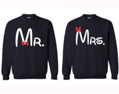 Mr and Mrs Couple Sweatshirts With She's Mine by CustomStylesLB