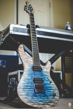 Most in-tune guitar ever?  Mayones Regius 6 with Evertune bridge and true temperament frets, built for Misha Mansoor.