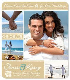 save the dates beach? I really like this one Em!