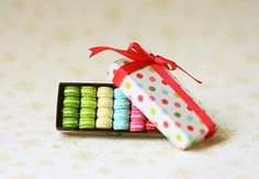 Dollhouse Miniature Food - French Macarons - Gifts for Her. $58.90, via Etsy.