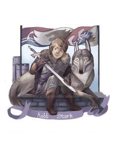 Robb Stark is the oldest child of Ned Stark and Catelyn Tully. He is the gracious and responsible lordling that is taking after his mother in appearance but has the heart of a Stark. Arya Stark - S...