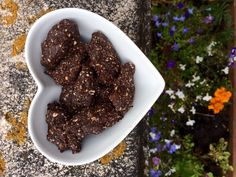 A very simple recipe for raw chocolate treats that resemble Nakd bars.